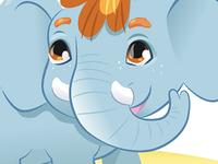baby elephant character for abc adobe illustrator elephant baby
