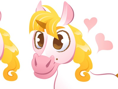 Unicorn unicorn pink cartoon animal