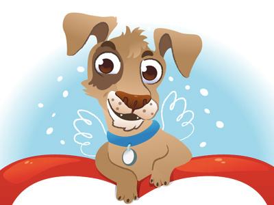 Curious dog dog animal wing illustration vector
