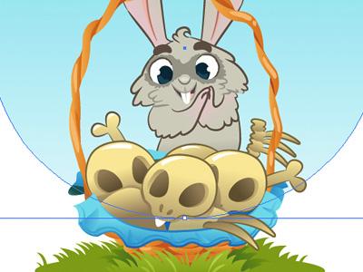 The Hungry Rabbit rabbit animal illustration vector