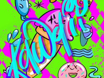 Bad A$$ Kawaii calligraphy illustration art illustrations illustrator kawaii illustration