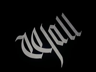 W̶ all immigration immigrant wallet gothic font gothic black letter blackletter