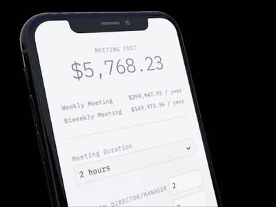 Money Time meetings ux ui app design