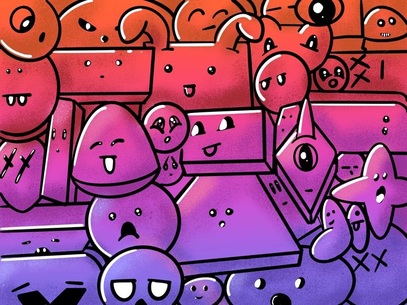 Friends procreate ipadpro design illustator illustration