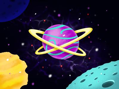 Planets design procreate illustrator ui code illustration