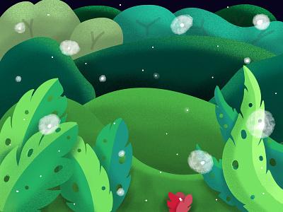 Field design interaction procreate illustrator illustration