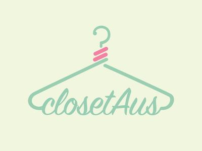 ClosetAus Logo closetaus branding design product logo design ecommerce logo logo