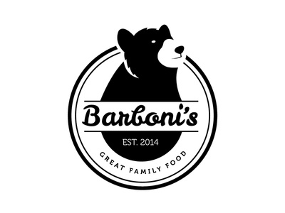 Barbonis Logo logo branding identit restaurant