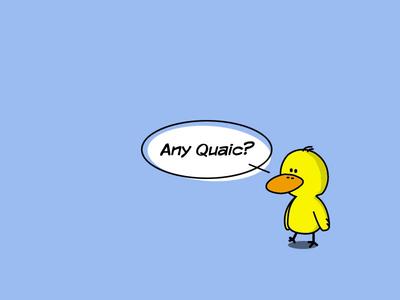 Any Quaic? illustration character fun duck irish