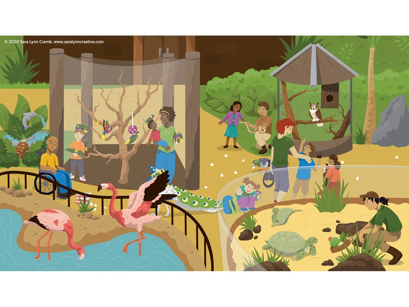Zoo Entrance wildlife zoo animals zoo childrens publishing kidlitart educational illustration nonfiction animals illustration vector sciart
