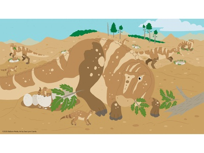 Good Mother natural science paleontology educational illustration kidlitart childrens publishing nonfiction sciart illustration vector prehistoric animals cretaceous dinosaur dino