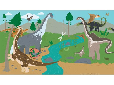 Herbivores and Carnivores educational illustration nonfiction childrens publishing kidlitart sciart illustration vector apatosaurus diplodocus spinosaur velociraptor sauropod dinosaur dino