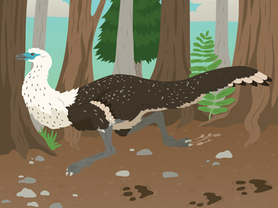 Running Ornithomimus dinoart birds prehistoric life educational nonfiction illustration childrens publishing kidlitart paleoart prehistoric animals dinosaur ornithomimus