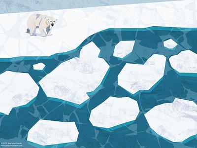 Polar Bear wildlife arctic ice winter climate change concervation digital illustration digital collage bear polar bear animals sciart illustration vector
