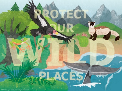 Protect endangered earthy protect wildlife sciart illustration vector digital collage conservation earth day animals nature earth onetreeplanted letsdawthechange ourplanetweek