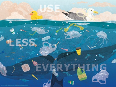 Reduce + Reuse digital collage pollution ocean life ocean natural science wildlife animals nonfiction illustration vector lets draw the change our planet week reuse reduce