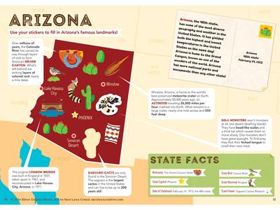 Arizona Map By Sara Lynn Cramb Dribbble - Us state sticker map