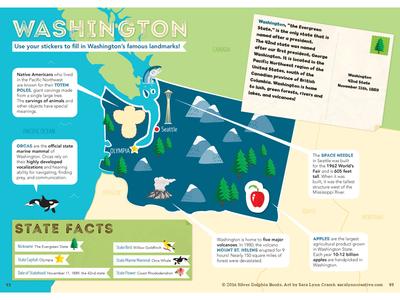 Washington Map By Sara Lynn Cramb Dribbble - Travel to all 50 states map