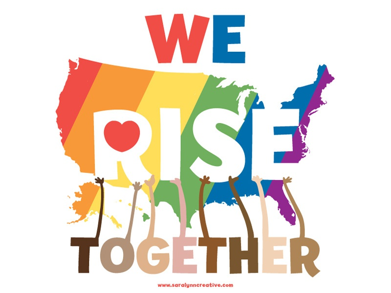 We Rise Together diversity unity usmap 2016election usa lovetrumpshate stongertogether werisetogether