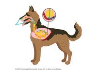 Dog Respiration illustration