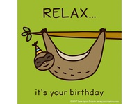 Quirky Animal Birthday Card illustrations-Sloth