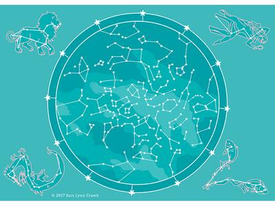 Night Explorer Star Map Northern Hemisphere