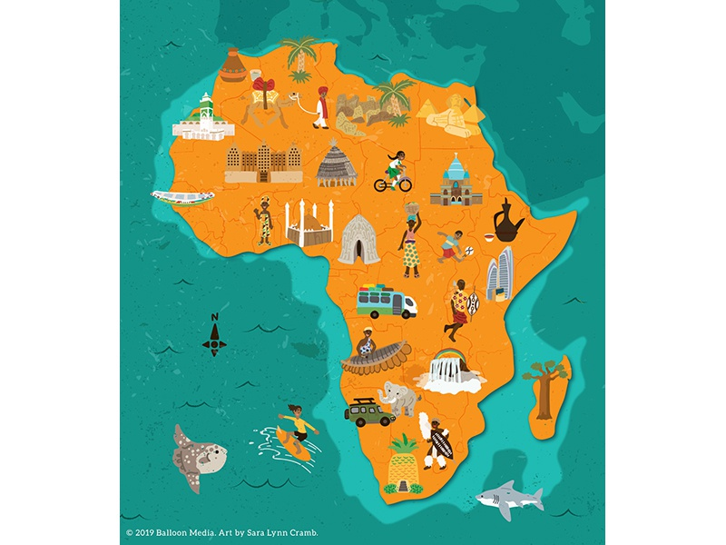Africa Cultural Map by Sara Lynn Cramb on Dribbble