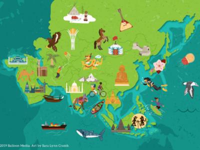 Asia cultural map