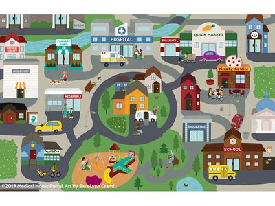 Medical Home Illustration