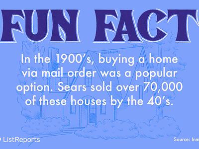 Fun Fact real estate 1900s home house line drawing blueprint fun fact
