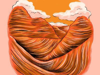 the Wave outdoors hiking hike campinas camping drawing explore adventuer illustration landscape clouds arizona wave the wave