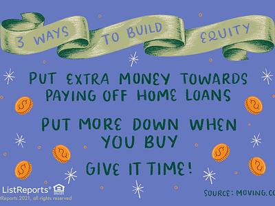 Equity banner money equity lettering hand lettering illustration