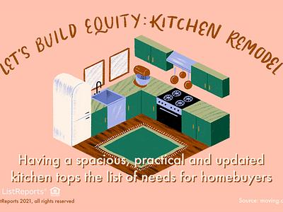 Kitchen Remodel cook house home remodel equity kitchen lettering hand lettering illustration