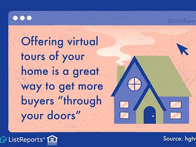Virtual Home Tour zillow computer screen house home virtual home tour website illustration