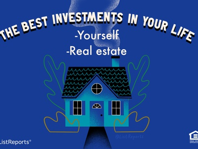 The Best Investments investment invest real estate cabin cottage home house lettering hand lettering illustration
