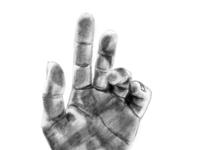 Free Hand Hand Drawing