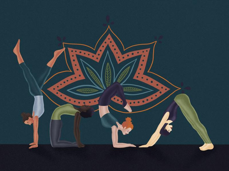 YOGA type drawing illustration meditation yogi yoga
