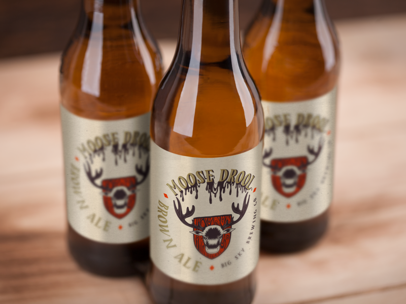 Moose Drool Branding brewery logo beer label brewery packagingdesign packaging beer clean design type typography lettering hand lettering illustration