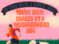 You've Been Chased by a Neighborhood Dog