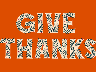 Give Thanks type typography lettering hand lettering greetingcard thankful thanksgiving thanks
