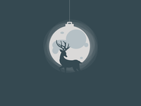 Xmas Deer | Illustration
