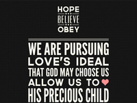 Hope Believe Obey New Site One Page