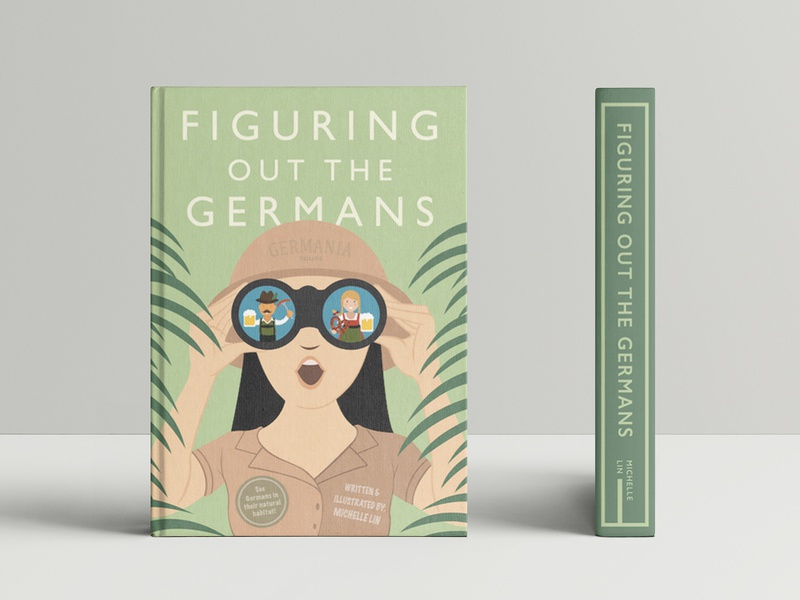 Figuring out the Germans branding vector design illustration