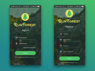 App Login & Registration Concept