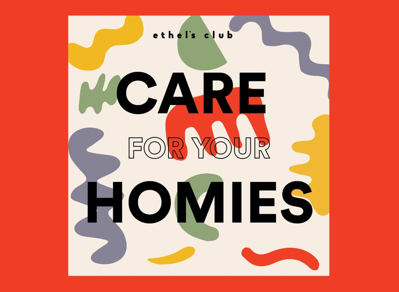 Care For Your Homies Postcard