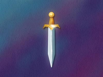 King Of Hearts - sword medieval illustration king david sword