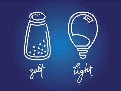 Salt & Light line art bible light salt