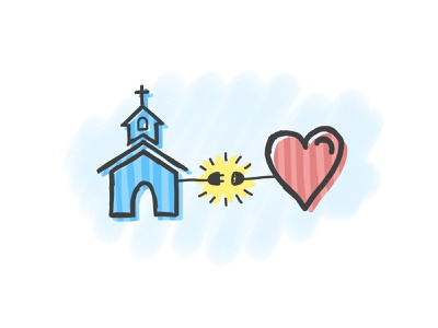 Are you plugged in? doodle sketch get involved plugged in plug heart church