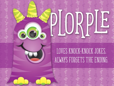 Lil' Monsters - Plorple child birthday monster printables monster birthday character art illustrator illustration