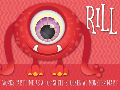 Lil' Monsters - Rill party printables monster mash monster printables monster character art monster birthday illustrator child birthday illustration